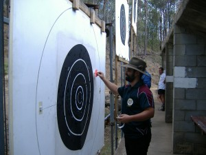 Ipswich rifle club members marking targets