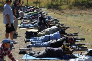 Firing line - full bore competitors in 2014 Ipswich prize meet