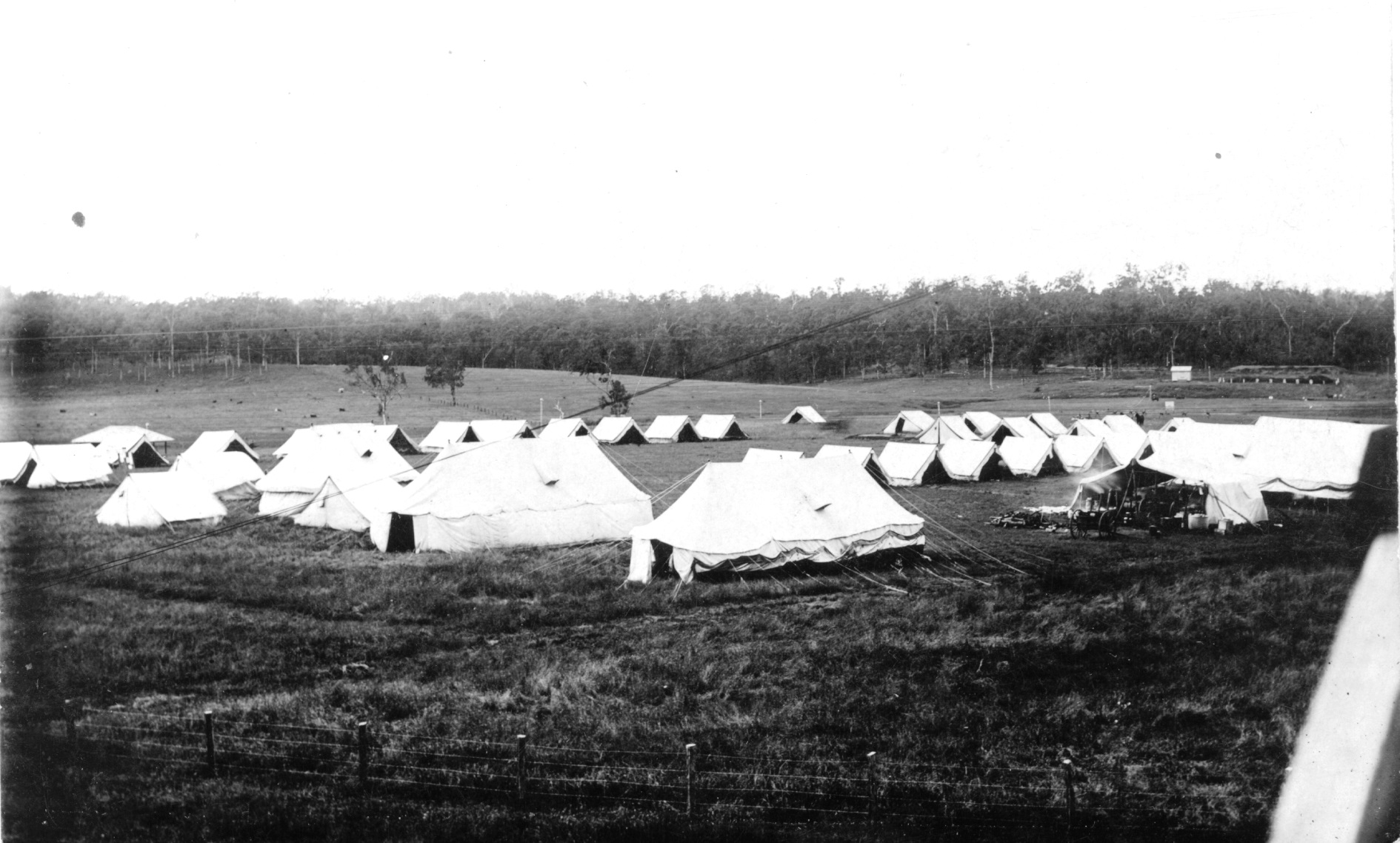 Tents up on Redbank range