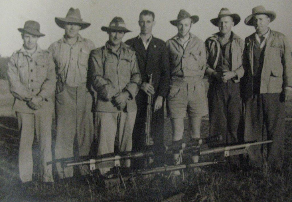Jim Rush (1st on left) -- c. late 1930s - early 1940s